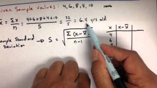 Variance and Standard Deviation: Sample and Population Practice Statistics Problems