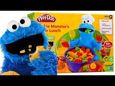 Play Doh Cookie monster Sesame Street playdough playset monstruo galletas