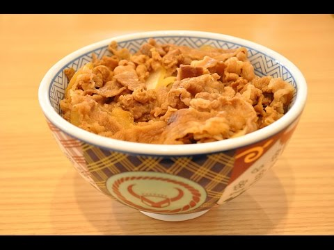 吉野家牛丼の「通」の食べ方教えます。 How to eat beef bowls of Yoshinoya in my original way.
