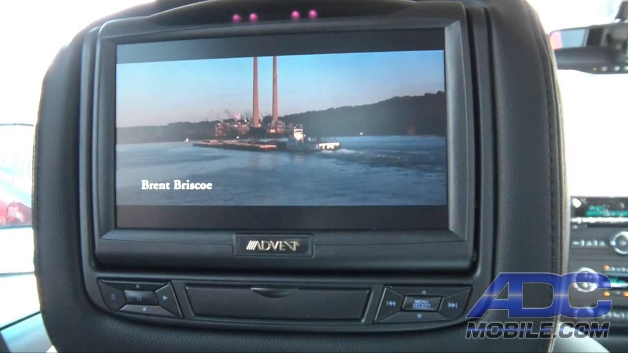Advent Advhr7012dd Dual Dvd Headrest System Youtube