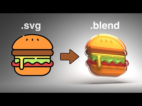 Tutorial: Rendering 2D Icons as 3D Objects in Blender