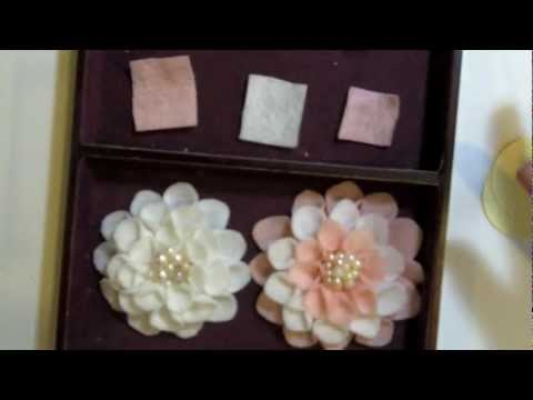 Martha Stewart Felt Flower Tutorial