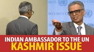 Indian ambassador to the UN loses cool after journalists ask tough questions