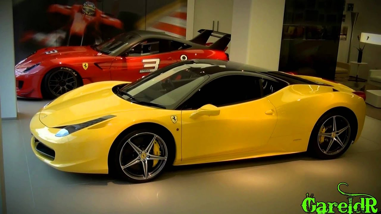 Silver Ff And Yellow 458 Italia Ferrari Combo At Hr Owen