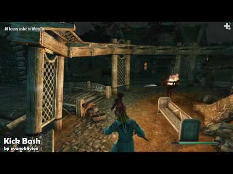 Skyrim Mods 97 - Witch Doctor. Brhuce Hammar. Caele. Kick Bash
