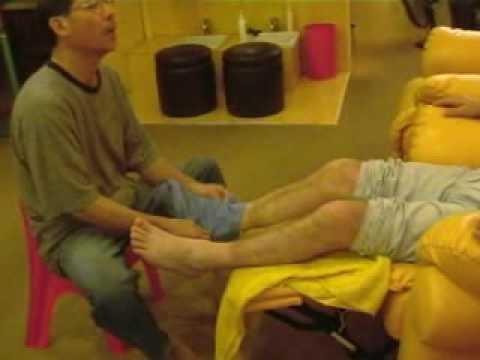 Kuala Lumpur Owen gets a foot massage 3 8 03