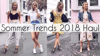 SOMMER TRENDS 2018 - Fashion HAUL kombiniert in 7 OUTFITS - TheBeauty2go