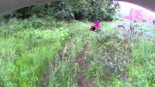Honda Rancher 420 vs Honda Recon 250 vs Yamaha Grizzly 350 trail ride