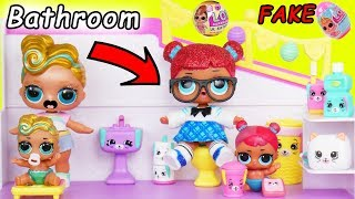 LOL Surprise! Dolls Lil Luxe Gets a Big Sister with Shopkins Happy Places DIY Custom Blind Makeover!