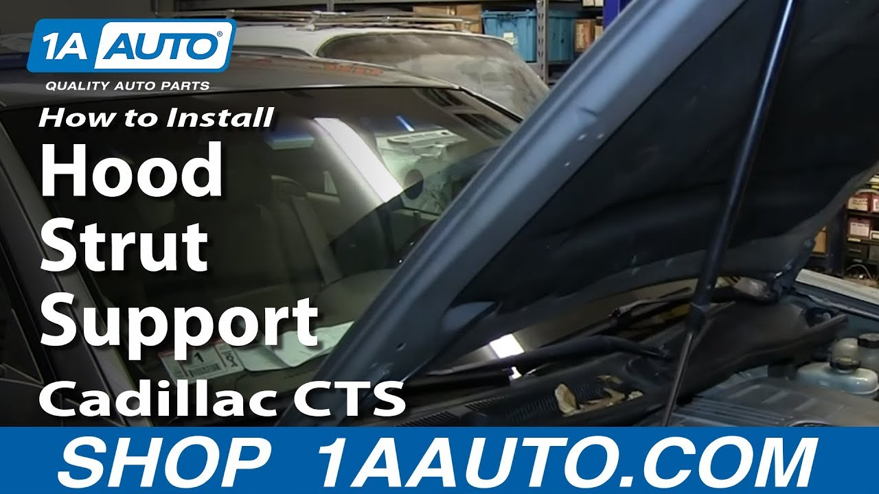 How To Install Replace Hood Strut Support 2003 10 Cadillac