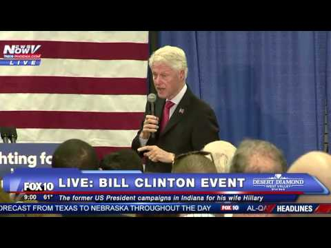 FNN: Bill Clinton Campaigns for Wife Hillary in Indianapolis, Indiana - FULL SPEECH