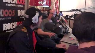Aaron Hill of The Law Band on Rock 100.5 FM with The Regular Guys - Atlanta, GA - Nov 15, 2013