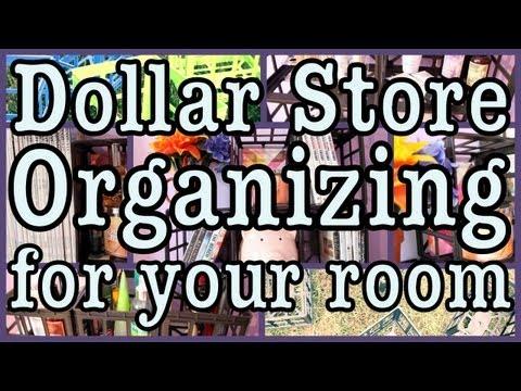 Dollar Store Room Organizing! + Decorating Ideas