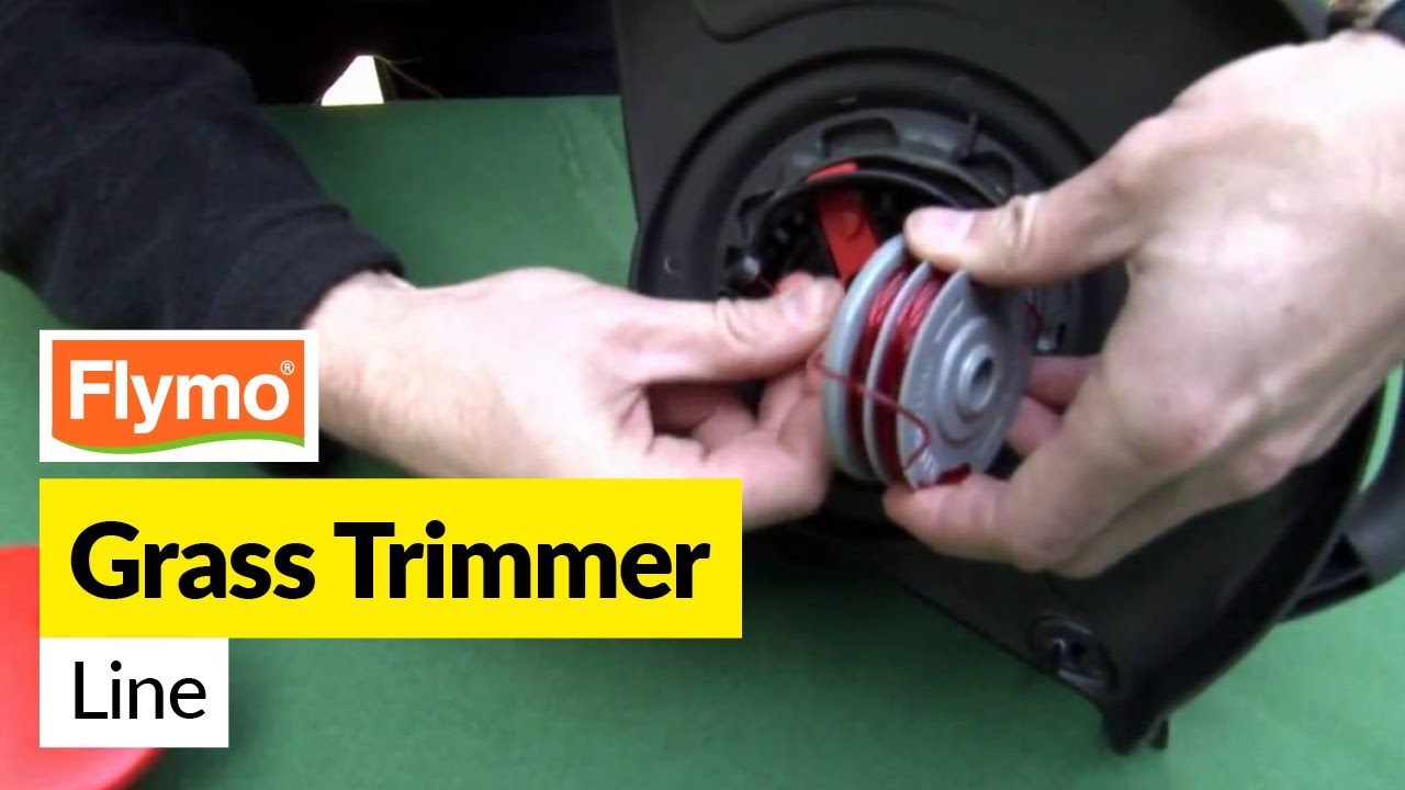 how to replace the flymo strimmer line in a flymo trimmer. Black Bedroom Furniture Sets. Home Design Ideas