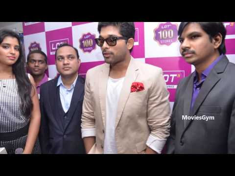 Allu Arjun At Lot Mobiles Opening - Vijayawada video