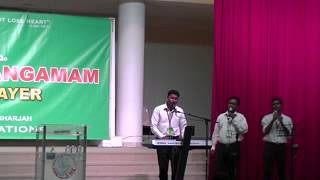 Worship song lead by Br  Biju Thomas Adimaly