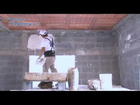 Yesera monterrey como aplicar yeso construcci n youtube - Como aplicar microcemento sobre azulejos ...