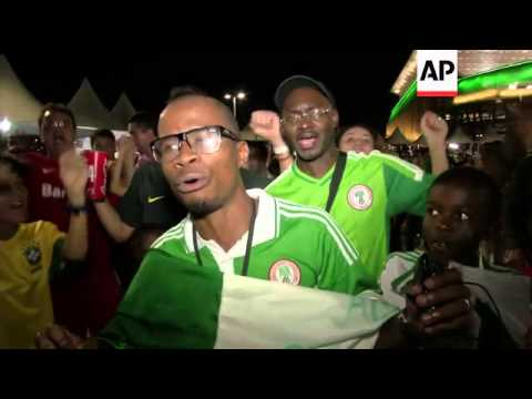Fans react after Nigeria beats Bosnia-Herzegovina 1-0 in World Cup Group F match