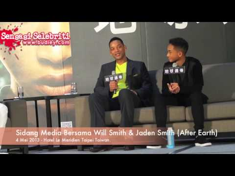 Sidang Media Bersama Will Smith & Jaden Smith After Earth)