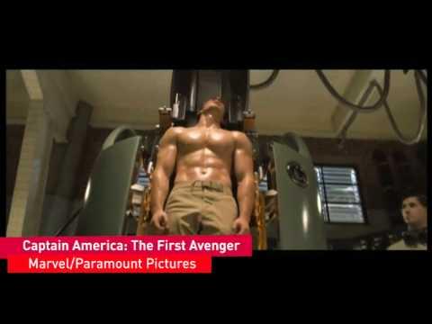 Chris Evans: Oiled Chest in Captain America
