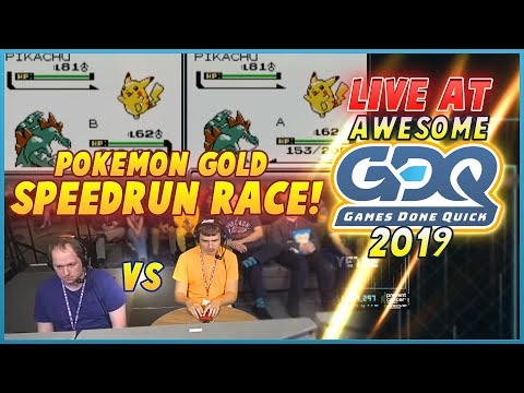 Pokemon Gold Race live at Awesome Games Done Quick 2019! Gunnermaniac vs Pokeguy!