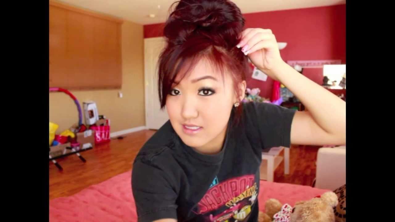 Weylie S Messy Hair Bun Ilikeweylie Youtube