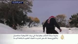 الثلوج تحاصر مخيميْ جباتا الخشب وطرنجة بالقنيطرة