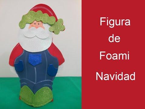 Figura en foami de navidad ( Figure foami Christmas)