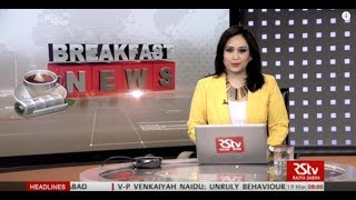 English News Bulletin – Mar 19, 2018 (8 am)