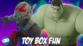 Grey Hulk and Ant Man Disney Infinity 3.0 Toy Box Fun Gameplay