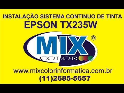 Instalação Completa do Bulk Ink Epson TX235W