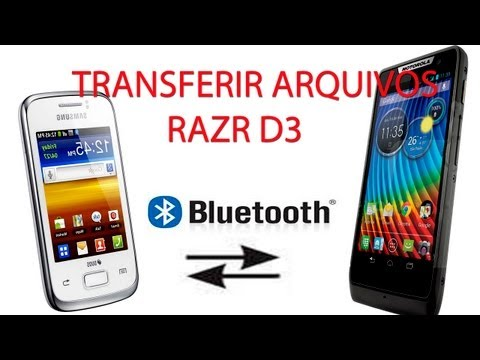 Transferir Arquivos via Bluetooth no Motorola Razr D3 e o Galaxy Y