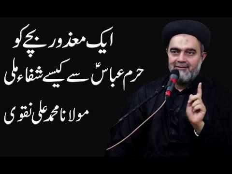 Aik Maazor Bachay Ko Haram Mola Abbas Me Kesy Shifaa Mili - Maulana Muhammad Ali Naqvi