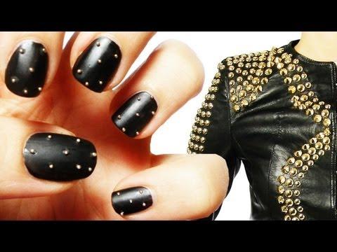 Tutorial Studded Nail Art Borchie