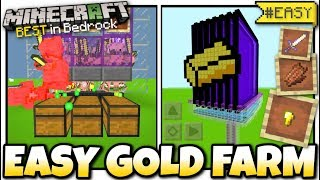 Minecraft - GOLD FARM + PIGMAN & XP [ Tutorial ] MCPE / Bedrock / Xbox