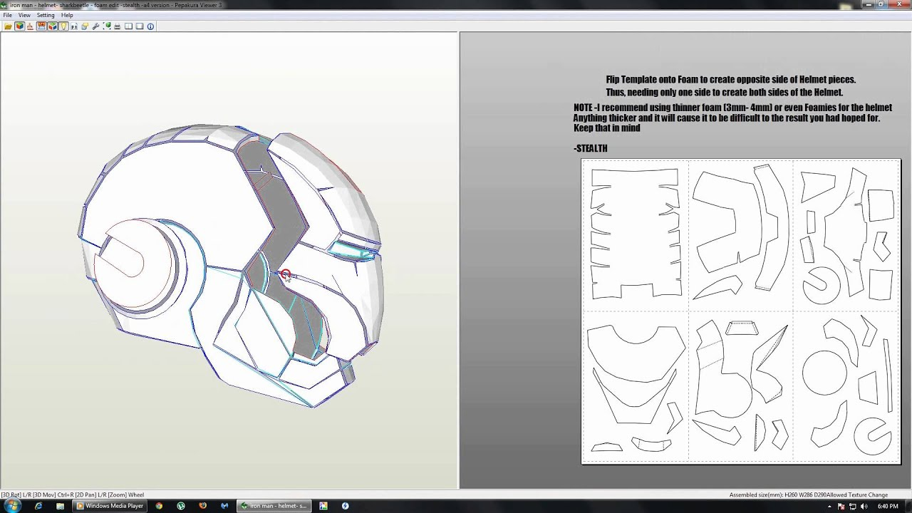 How to get Ironman pepakura files - YouTube