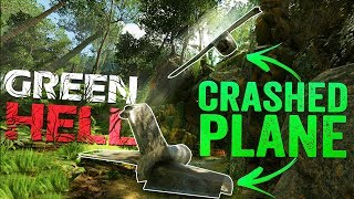 Green Hell - Tribal Battle-zone - Finding A Crashed Plane & Giant Cave - Green Hell PC Gameplay