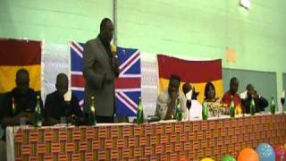 Dr. Ekow Spio Garbrah speaking at the Ghana Youth Forum in London-Tottenham
