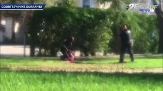 Two police officers take down Nikolas Cruz