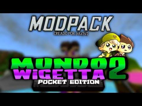 Super ModPack De MUNDO WIGETTA 2 Para Minecraft 1.2.11 / Minecraft Pe 1.2 (12 Mods)