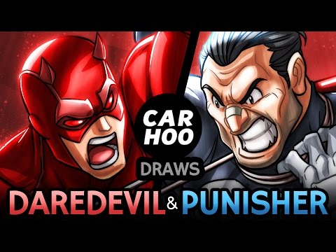 CARHOO Draws【Daredevil & Punisher】800k Subs Special