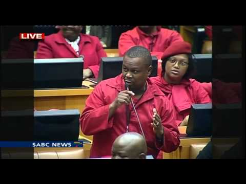 EFF takes on Zuma in Parliament