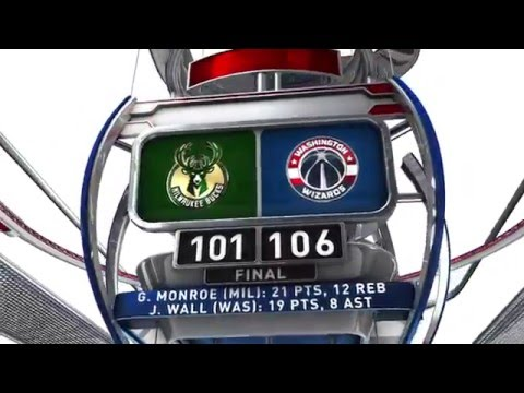 MIlwaukee Bucks vs Washington Wizards - January 13, 2016