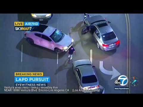 Slow-speed chase draws audience along LA streets I ABC7