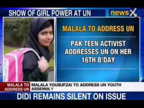 NewsX: Malala Yousafzai to address at United Nations