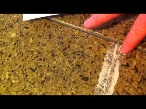 Cheap. Easy and dirty fix for cracked granite countertop