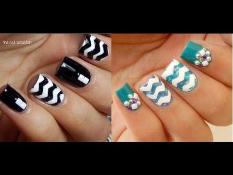 Zigzag en tus uñas super fácil!♥