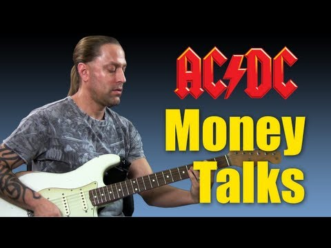 How To Play moneytalks By Acdc Guitar Lesson video