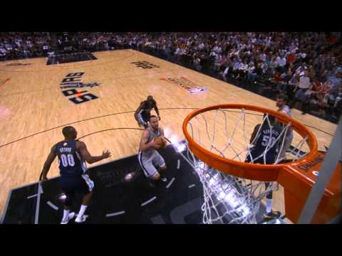 Splitter Finds Ginobili for the BIG Dunk