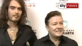 Ricky Gervais And Russell Brand At Live Earth